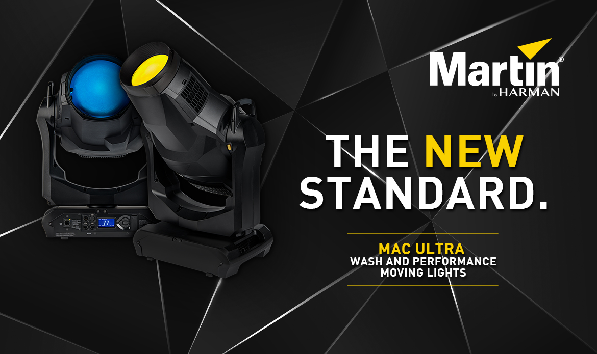 The new standard. Martin MAC Ultra Wash und Performance Moving Lights